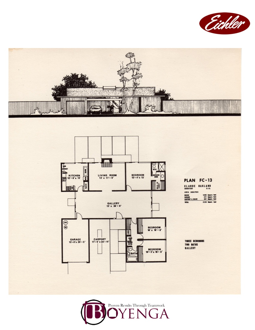 Foster city eichler real estate floor plans foster city for Eichler flooring